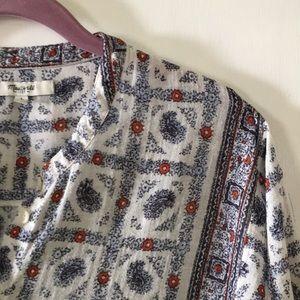 Madewell boho blouse